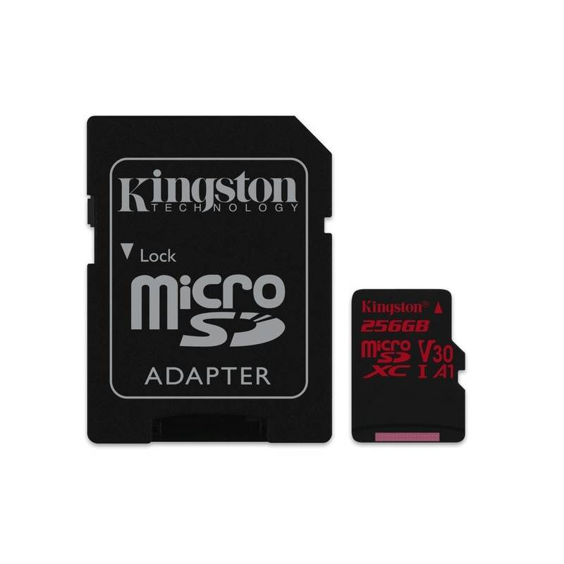 Pamäťová karta Kingston Canvas React microSDXC 256GB UHS-I U3 (100R/70W) + adaptér (SDCR/256GB)