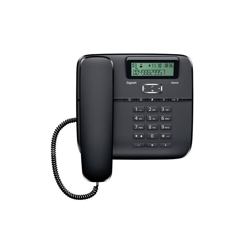 Domáci telefón Siemens Gigaset DA610 (S30350-S212-R601) čierny