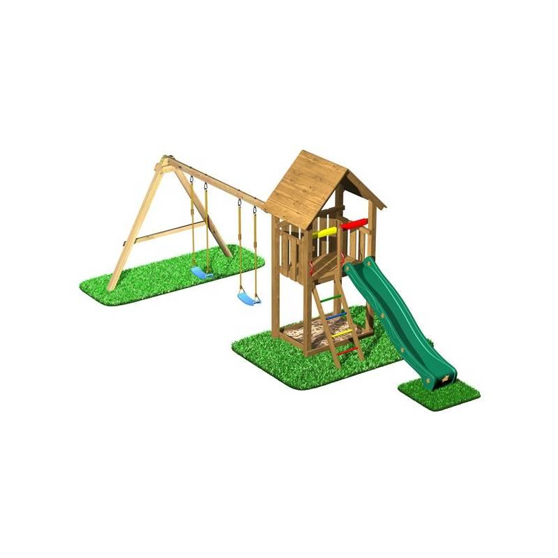 Detské ihrisko CUBS Honza 2 - věž s dvojhoupačkou a houpáky + Doprava zadarmo