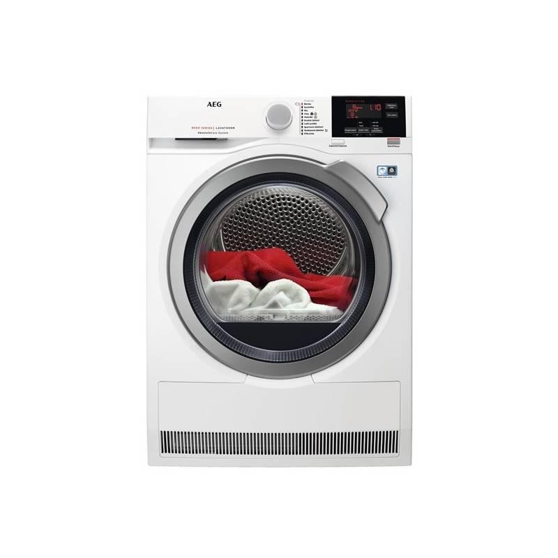 Sušička prádla AEG AbsoluteCare® T8DBG68SC bílá + AEG 10 let záruka na invertor motor