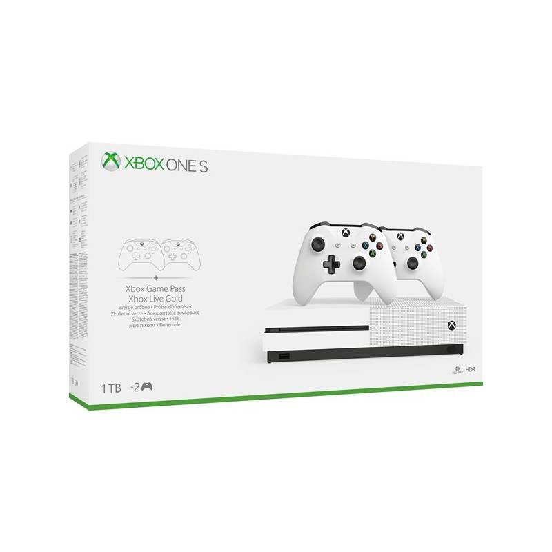 Herná konzola Microsoft Xbox One S 1 TB + 2 ovladače (234-00607) + Doprava zadarmo