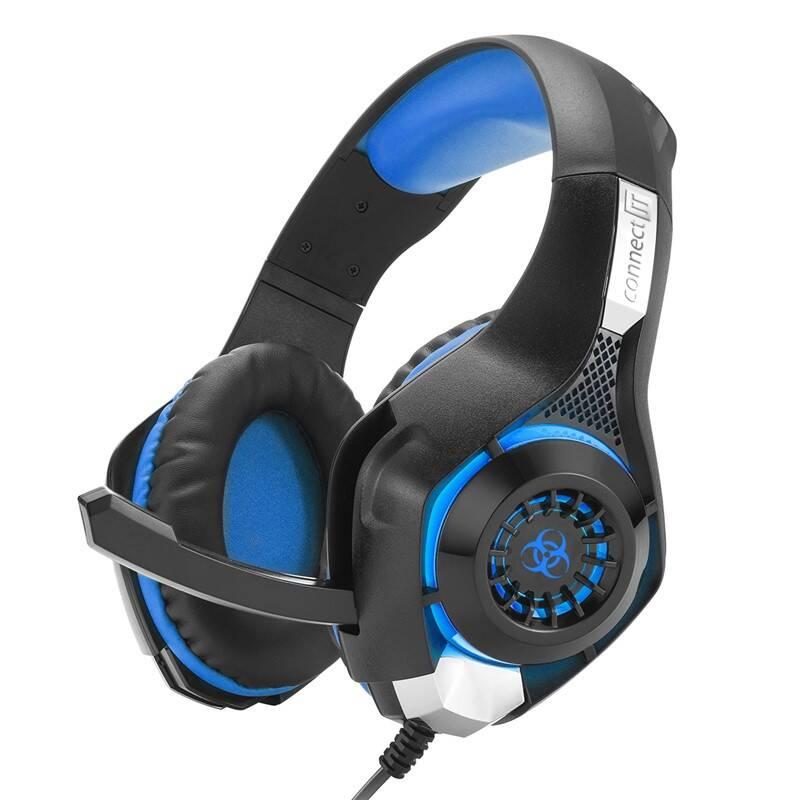 Headset Connect IT Biohazard CHP-4510 (CHP-4510-BL) čierny/modrý