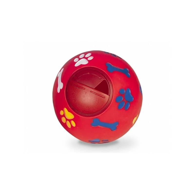 Hračka Nobby Snack Ball plnitelná 14,5cm červená