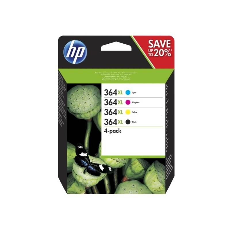 Cartridge HP 364XL Combo pack 4x 550 str. - černá, žlutá, azurová, purpurová (N9J74AE)
