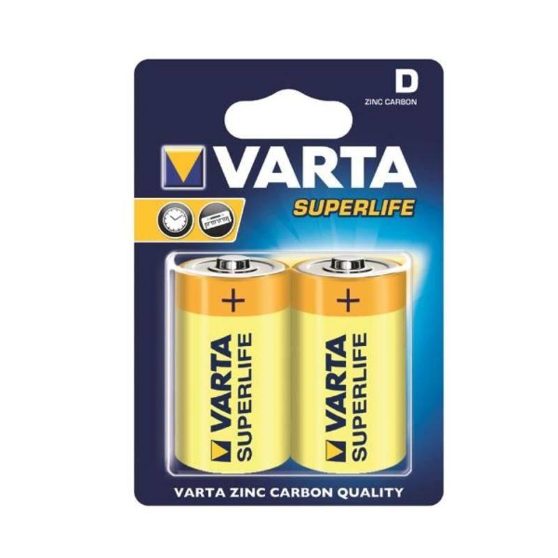 Batéria alkalická Varta Superlife, D, 2 ks