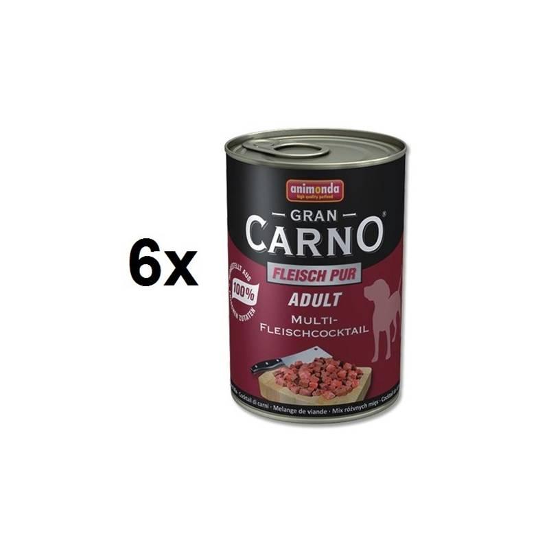 Konzerva Animonda Adult Gran Carno mäsová zmes 6 x 400g
