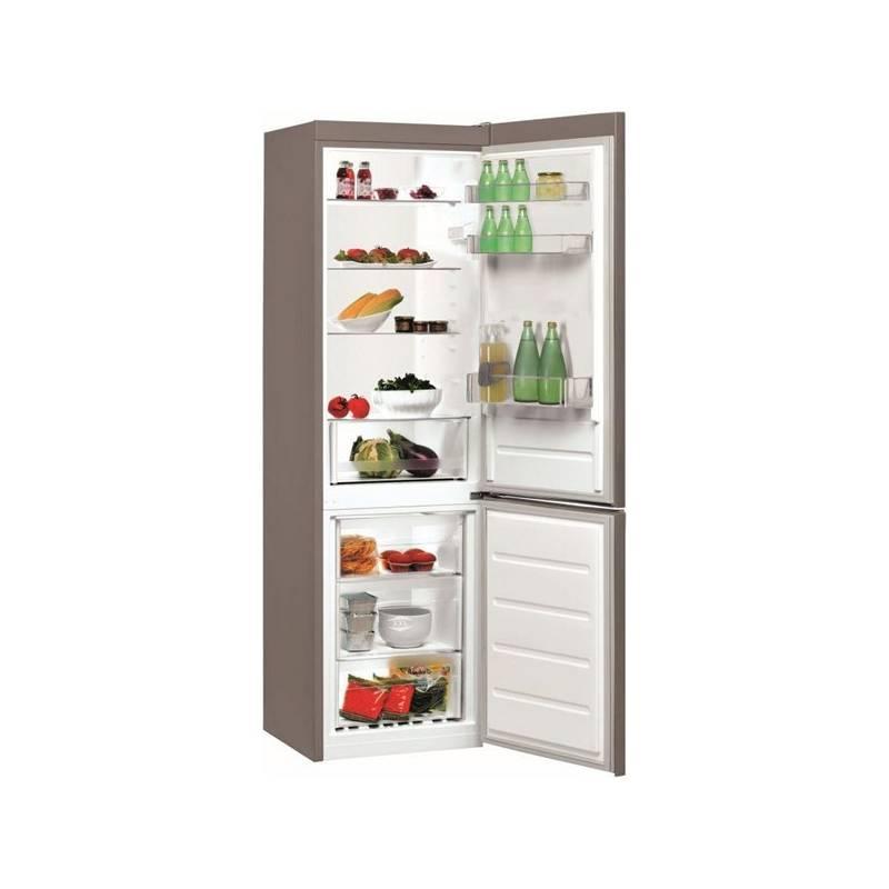 Kombinácia chladničky s mrazničkou Indesit LI7 S1 X nerez