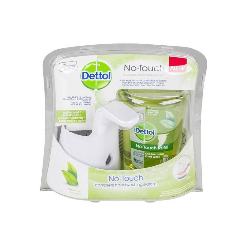 Dávkovač mydla Dettol Uhorka + náplň Green Tea (436695)