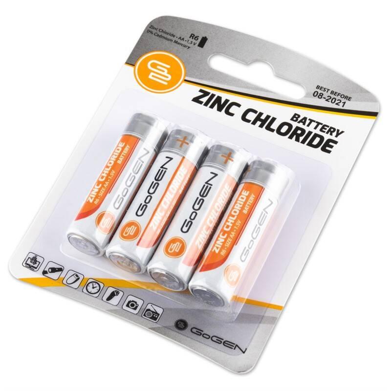 Baterie zinkochloridová GoGEN AA, R6, blistr 4ks (R06ZINC4)