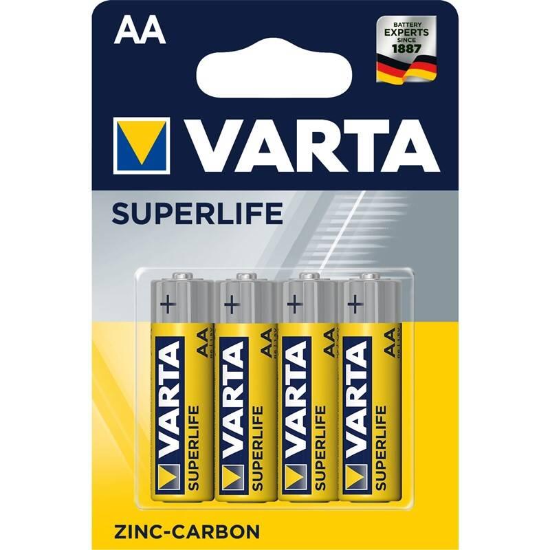 Batérie zinkovo-uhlíková Varta Superlife AA, R06, blistr 4ks (2006101414) + Doprava zadarmo