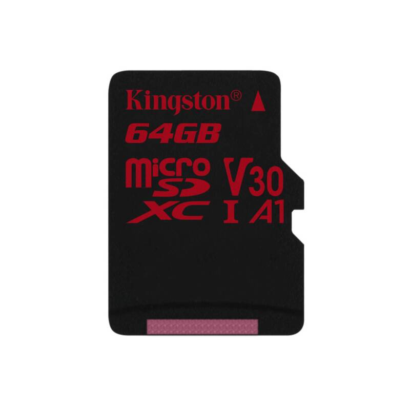 Pamäťová karta Kingston Canvas React microSDXC 64GB UHS-I U3 (100R/80W) (SDCR/64GBSP)