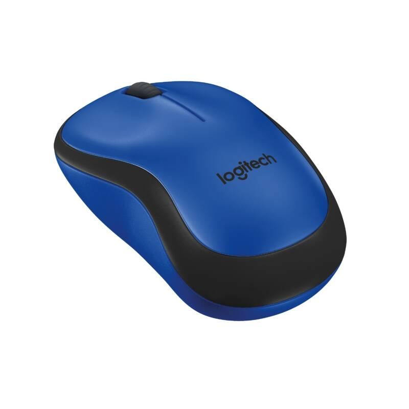 Myš Logitech Wireless Mouse M220 Silent (910-004879) modrá