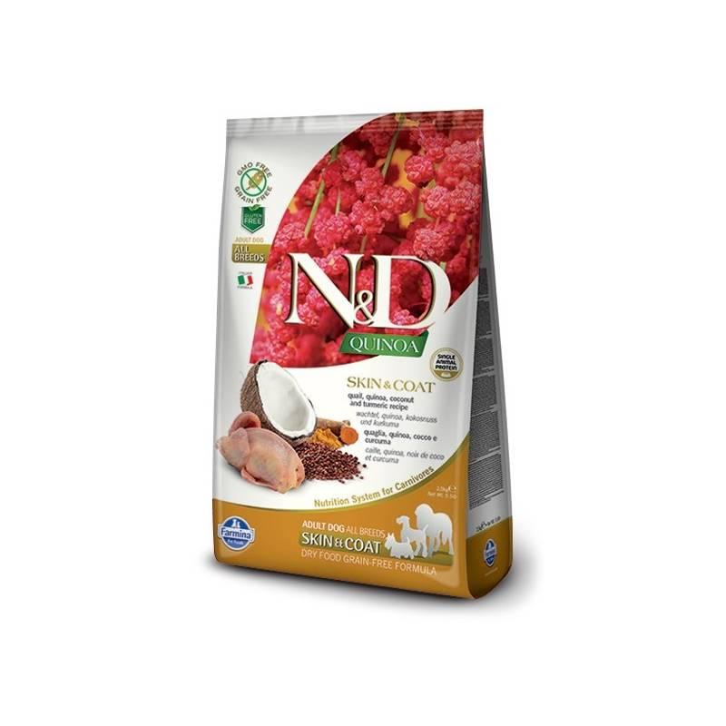 Granule N&D Grain Free Quinoa DOG Skin&Coat Quail & Coconut 7 kg + Antiparazitní obojek Scalibor Protectorband pro psy - 48 cm v hodnote 12.00 €