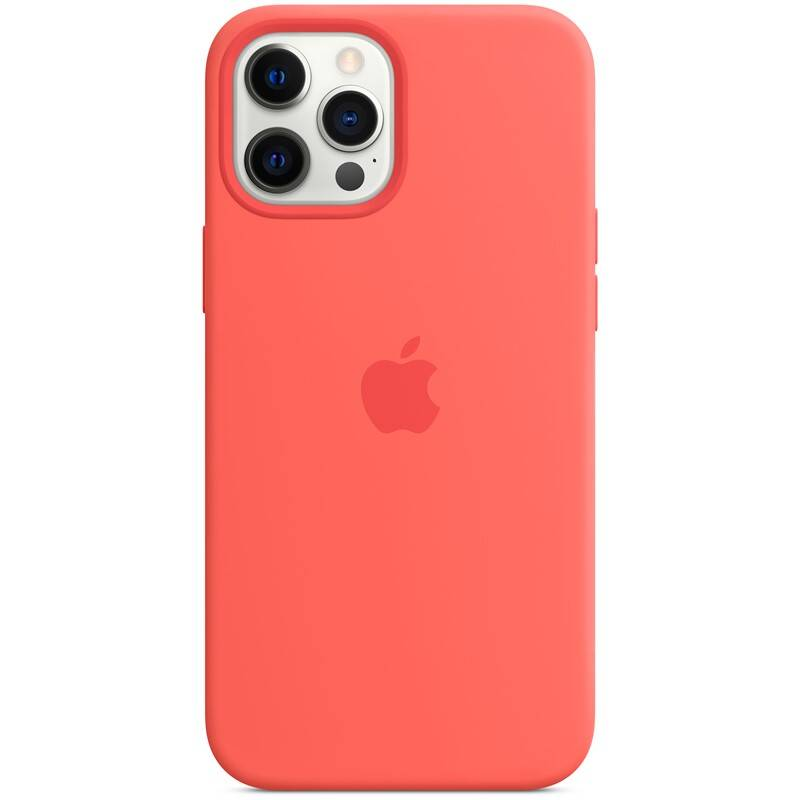 Kryt na mobil Apple Silicone Case s MagSafe pre iPhone 12 Pro Max - citrusovo ružový (MHL93ZM/A)