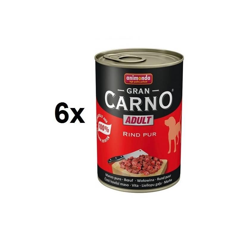 Konzerva Animonda Adult Gran Carno hovězí maso 6 x 400g