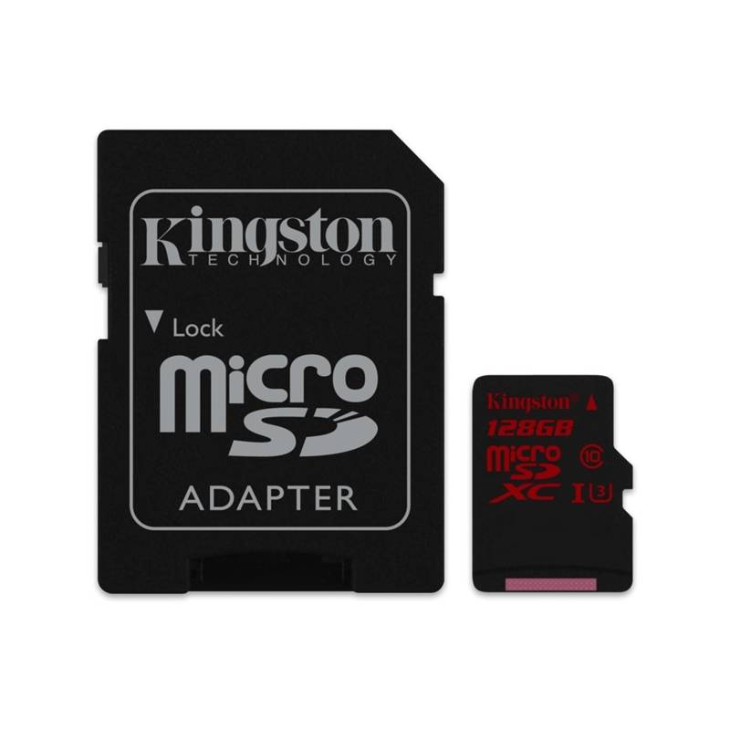 Pamäťová karta Kingston MicroSDXC 128GB UHS-I U3 (90R/80W) + adapter (SDCA3/128GB)