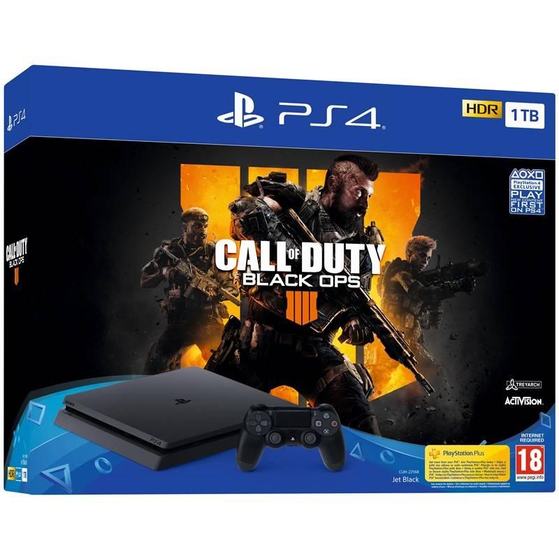 Herná konzola Sony PlayStation 4 Slim 1TB + Call of Duty: Black Ops 4 (PS719758112) čierna + Doprava zadarmo