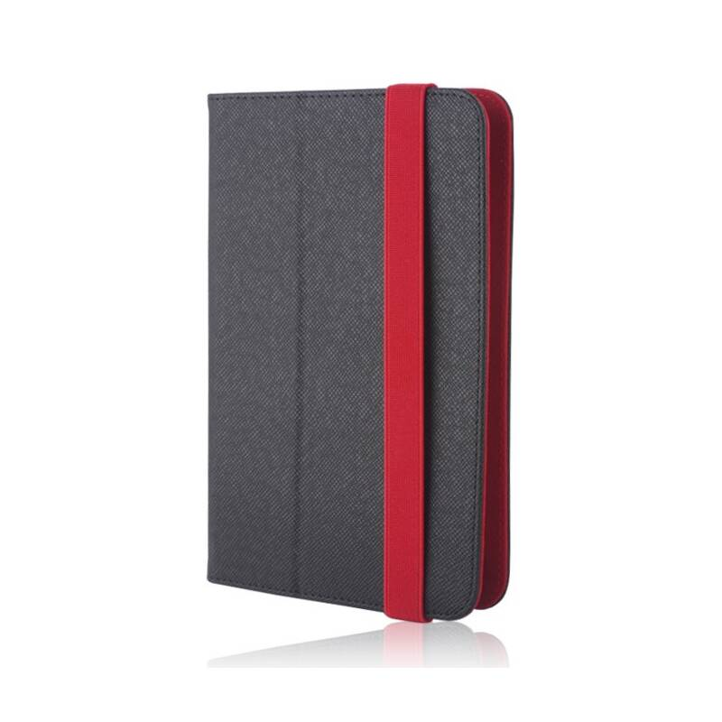 """Púzdro na tablet flipové GreenGo Orbi na tablet 7-8"""" (LCSUNI78OBIRE) čierne/červené"""