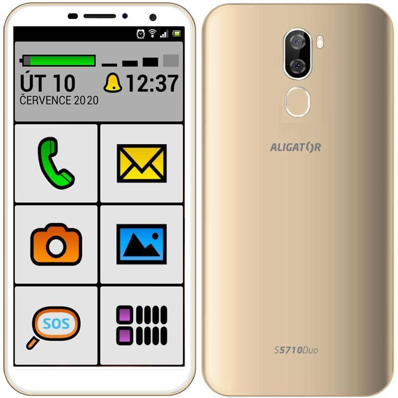Mobilný telefón Aligator S5710 Senior (AS5710SENGD) zlatý