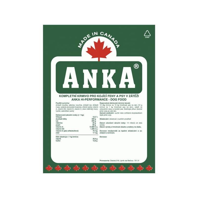 Granule ANKA Hi-Performance 10 kg, pro kojící feny a psy v zátěži