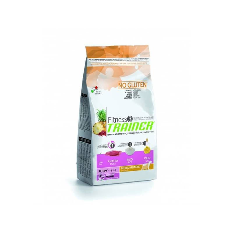 Granule Trainer Fitness 3 Puppy Medium/Maxi Kachna a rýže 12,5 kg