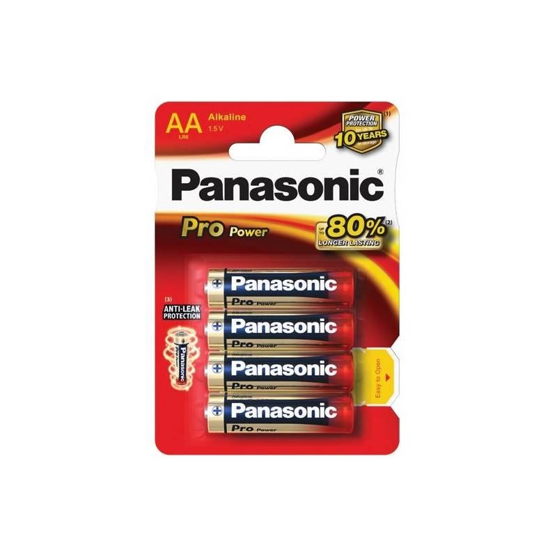 Batéria alkalická Panasonic AA, LR6, Pro Power, blistr 4ks