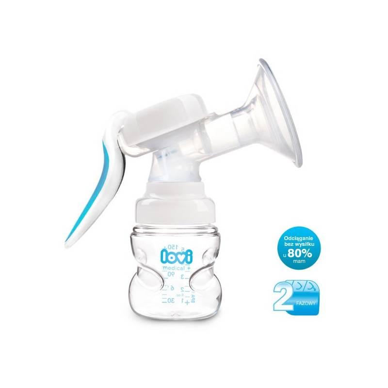 Odsávačka materského mlieka LOVI Protect dvoufázová ruční páková biela