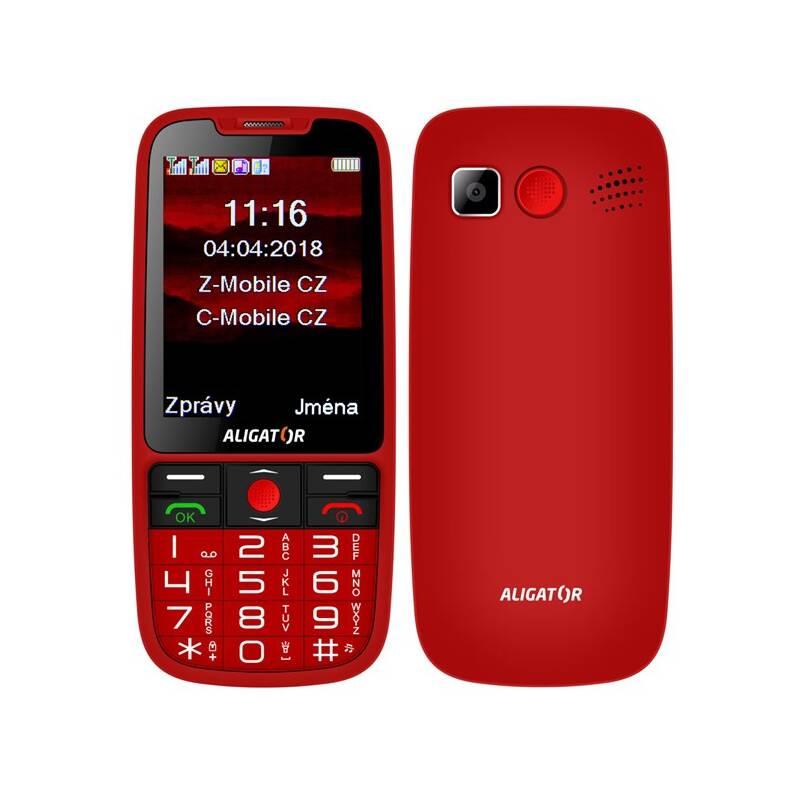 Mobilný telefón Aligator A890 Senior (A890RD) červený