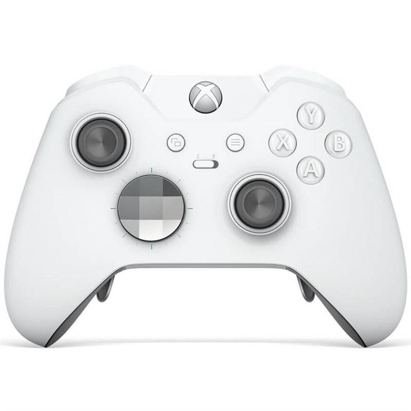 Gamepad Microsoft Xbox One Wireless - speciální bílá edice Elite (HM3-00012) + Doprava zadarmo