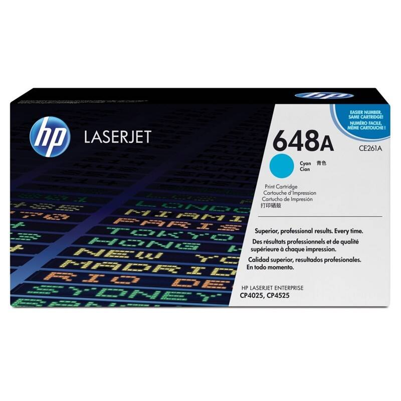 Toner HP 648A, 11000 stran (CE261A) modrý + Doprava zadarmo