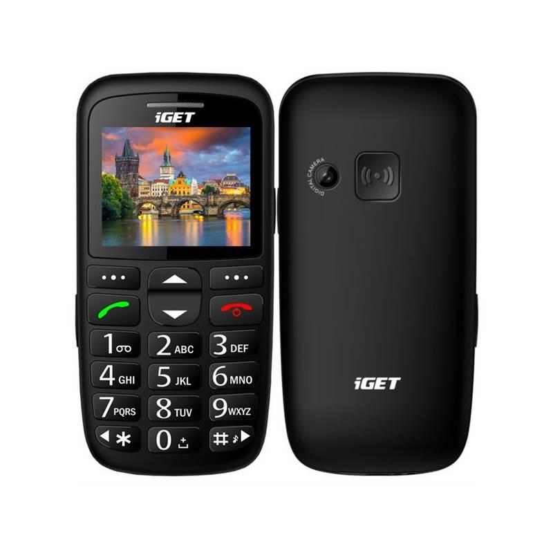 Mobilný telefón iGET D7 Single SIM (84000435) čierny