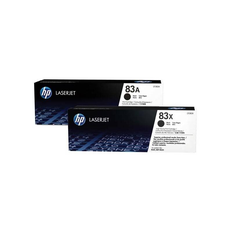 Toner HP 83A, 2x1500 stran (CF283AD) černý