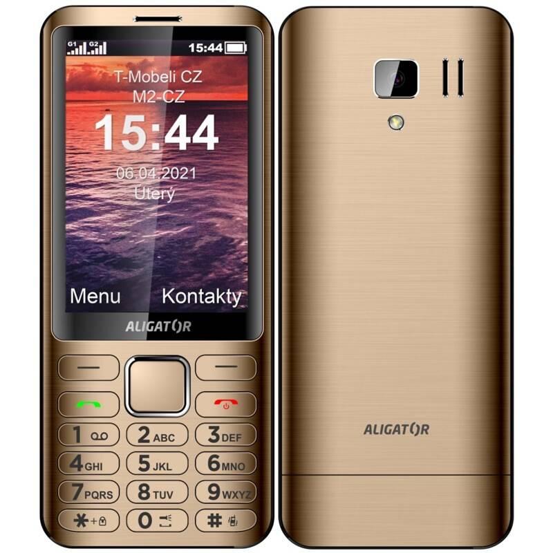 Mobilný telefón Aligator D950 Dual Sim (AD950GD) zlatý