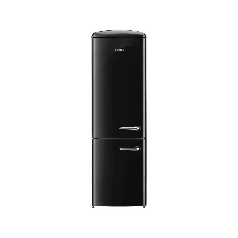 Kombinácia chladničky s mrazničkou Gorenje Retro ORK192BK-L čierna + Doprava zadarmo