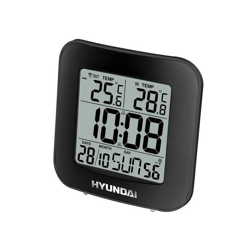 Meteorologická stanice Hyundai WS 7236 černá + Hyundai záruka 40 měsíců