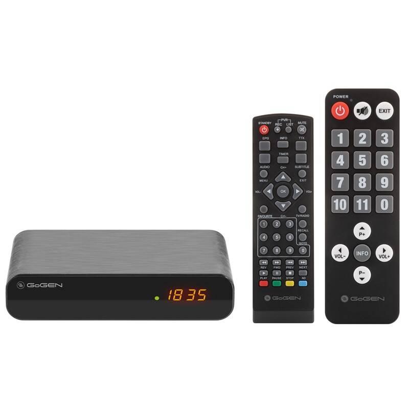 Set-top box GoGEN DVB 133 T2 SENIOR čierny + Doprava zadarmo
