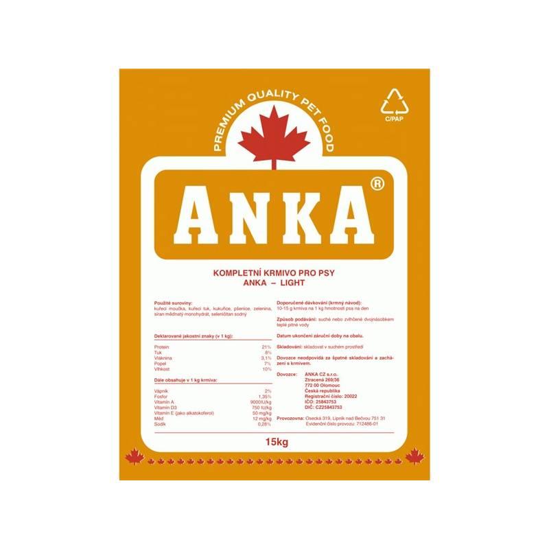 Granule ANKA Light 15 kg, pro psy s nadváhou