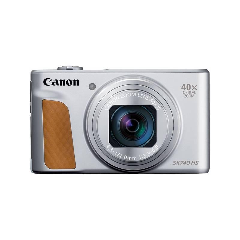 Digitálny fotoaparát Canon PowerShot SX740 HS (2956C002) strieborný + Doprava zadarmo
