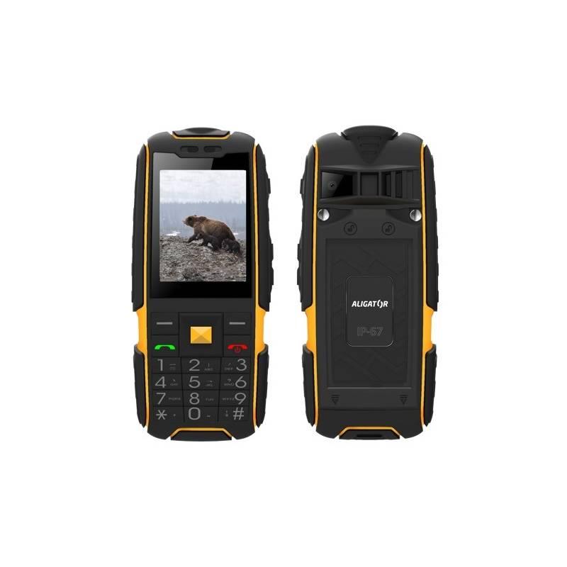 Mobilný telefón Aligator R20 eXtremo (AR20BY) čierny/žltý