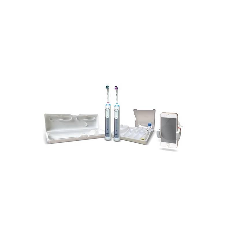 Zubná kefka Oral-B Genius PRO 8900 Cross Action Bonus Handle biely