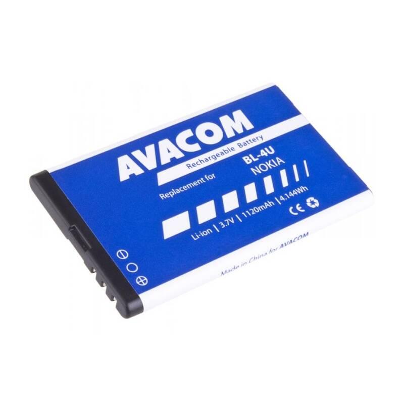 Batéria Avacom pro Nokia 5530, CK300, E66, 5530, E75, 5730, Li-Ion 1120mAh (náhrada BL-4U) (GSNO-BL4U-S1120A)