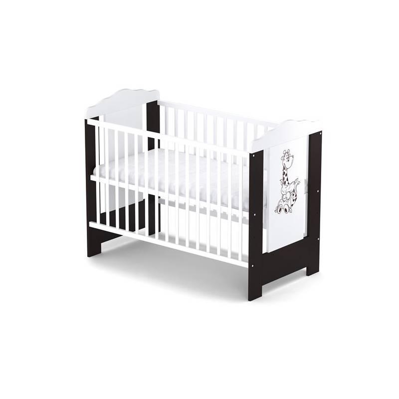 Postieľka detská drevená Baby Sky ELLA 108 wenge biela