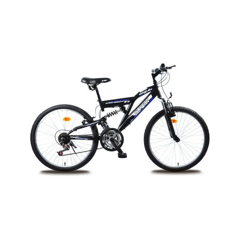 Detský bicykel Olpran Magic 24' čierny/modrý