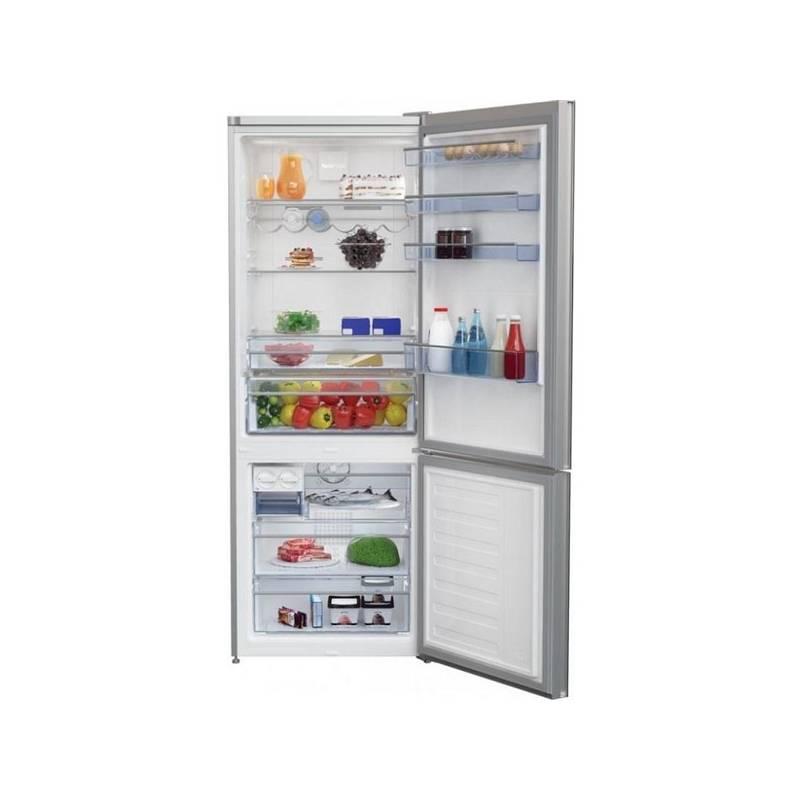 Kombinácia chladničky s mrazničkou Beko CNE 520 EE0ZGW biela/sklo + Doprava zadarmo