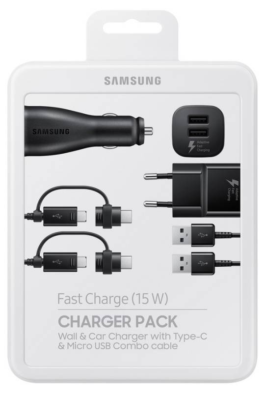 Nabíjačka do siete Samsung Power Pack (nabíječka, adaptér do auta, kabel) EP-U3100 (EP-U3100WBEGWW) čierna