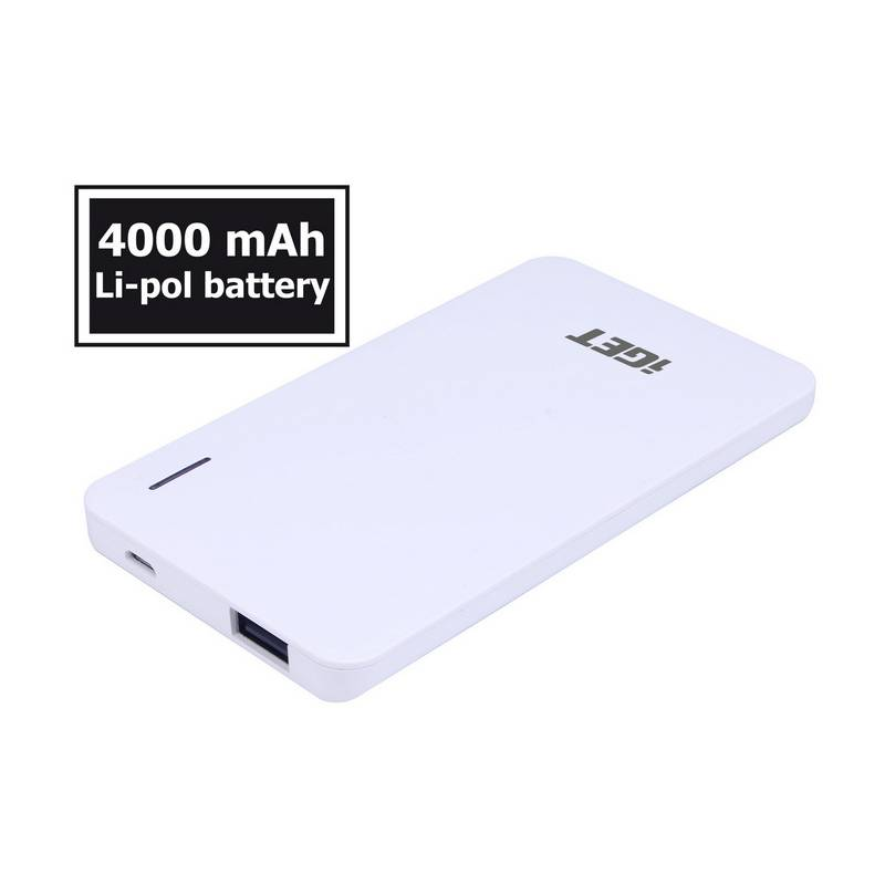 Power Bank iGET POWER B 4000mAh (B-4000) biela