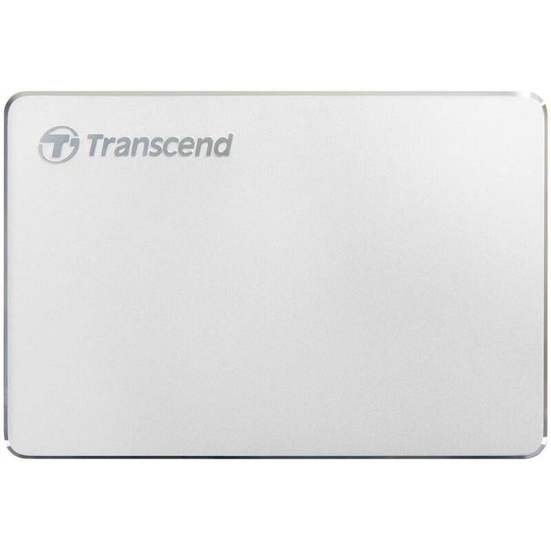 Externý pevný disk Transcend StoreJet 25C3S 2TB, USB-C (3.1 Gen 1) (TS2TSJ25C3S) strieborný