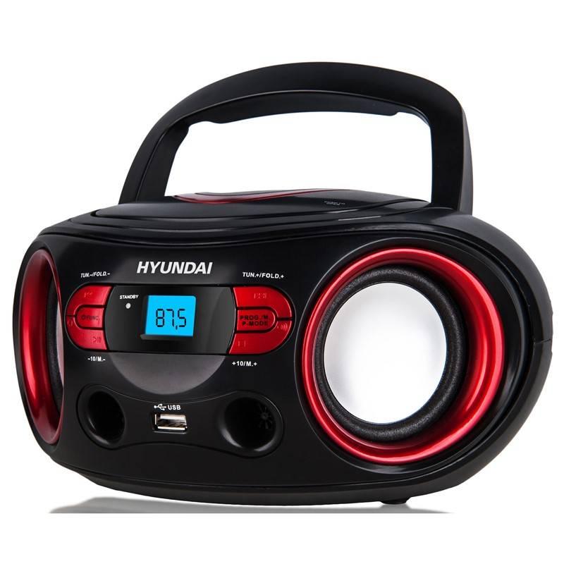 Rádioprijímač s CD Hyundai TRC 533 AU3BR čierny/červený