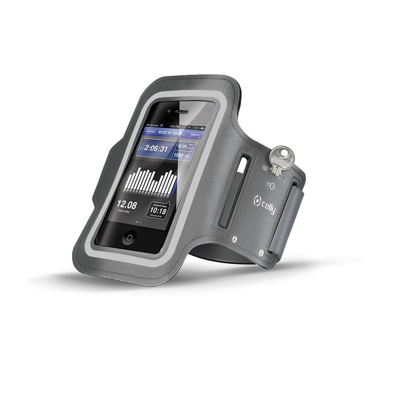 Puzdro na mobil športové Celly Armband XXL (ARMBAND02) sivé