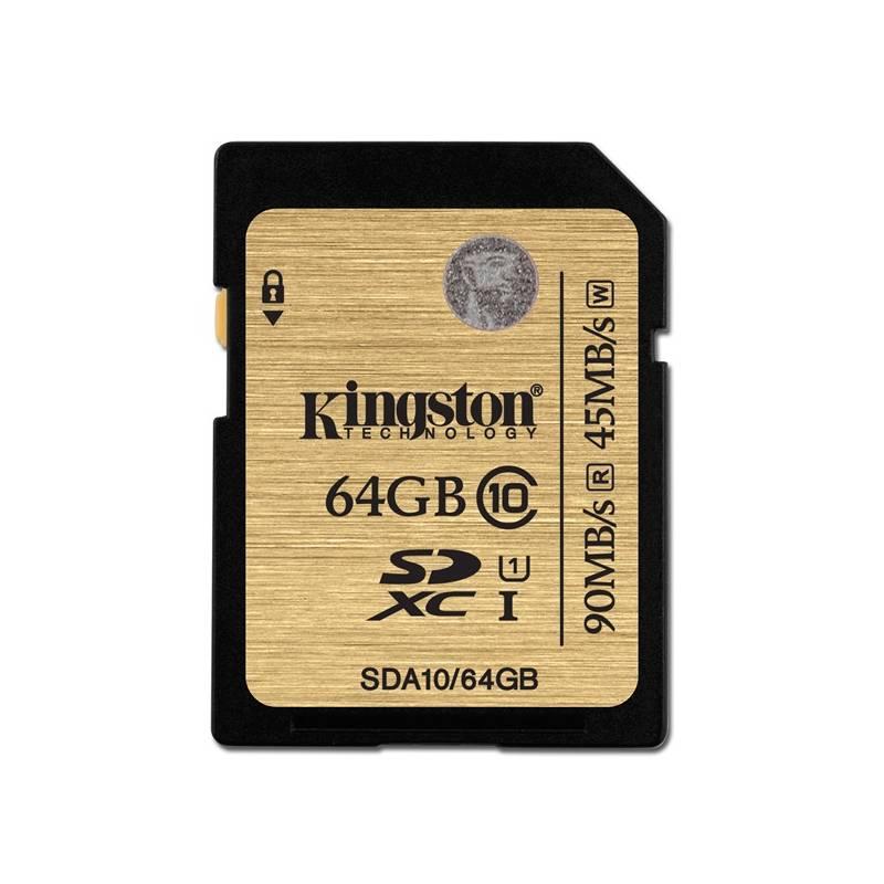 Pamäťová karta Kingston SDXC 64GB UHS-I U1 (90R/45W) (SDA10/64GB)